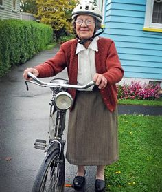 Style comes in all shapes and sizes. I hope i am riding if and when i get to that age!~
