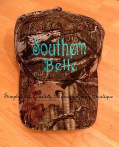 Southern Belle Camo Hat by SimplySewDarling on Etsy, $15.99