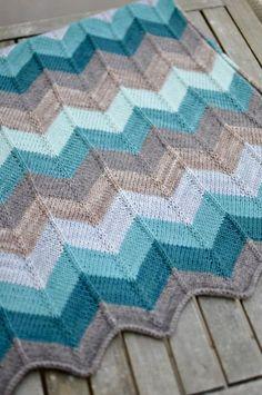 64fd5fd58 Free knit chevron baby blanket pattern!  Anna Totten Totten Totten ...