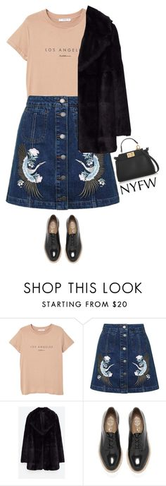 """Pack for NYFW"" by beachkidwithdirtyvans ❤ liked on Polyvore featuring MANGO, Topshop, Jakke, Jeffrey Campbell and Fendi"