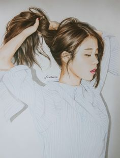 IU fanart by 깔창