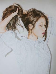 IU fanart by 깔창