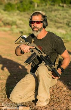 Chris Costa and a SBR AK with AimPoint and beard