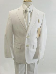 Boys First Communion Suit White by Michael Kors