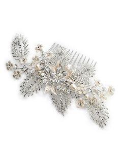 Isadora Floral Wedding Comb