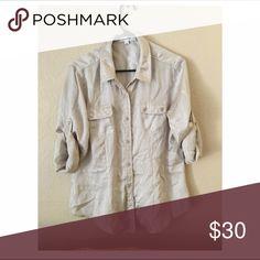 Shirt Very lite and fresh. Calvin Klein Tops Button Down Shirts