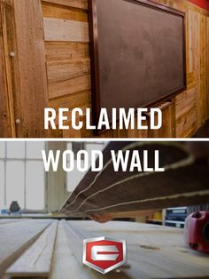Add a rustic vibe and some texture to any room with this reclaimed wood wall project.