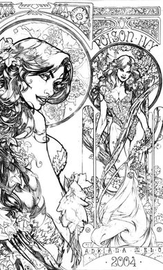 Poison Ivy pinup by *AdrianaMelo on deviantART Dc Comics, Comics Girls, Batman, Pamela Isley, Gotham Girls, Marvel, Coloring Book Pages, Art Plastique, Comic Artist