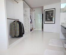 White Stained Concrete Floors Bathroom Flooring Kitchen Bat