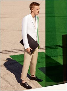 Karim Sadli photographs model Victor Nylander for BOSS Hugo Boss' spring-summer 2017 campaign.