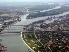 Belgrade built t the confluence of the Danube and Sava Rivers.