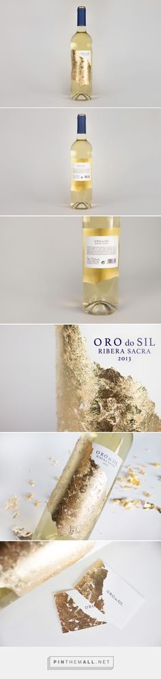 Oro do Sil on Behance Barcelona, Spain curated by Packaging Diva PD.  Beautiful gold wine packaging project.