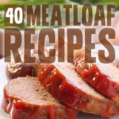 40 Paleo Meatloaf Recipes (Bread Crumb Free)- from classic homestyle meatloaf to healthier turkey recipes. Including one from Paleo Paleo Meatloaf, Meatloaf Recipes, Meat Recipes, Paleo Recipes, Cooking Recipes, Meatloaf Muffins, Easy Meatloaf, Healthy Turkey Recipes, Paleo Grubs