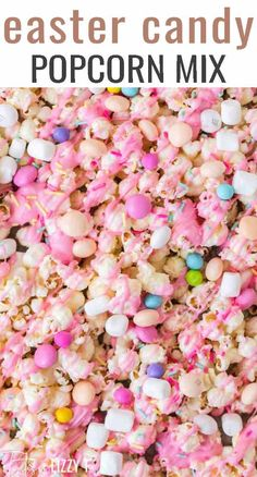 Easy & Cute Easter Candy Popcorn Mix – Tastes of Lizzy T Celebrate spring with this Easter Candy Popcorn Mix. Sweet and salty, it's a fun party snack your kids will love. Serve in bunny cups for a party favor. Popcorn Mix, Sweet Popcorn, Candy Popcorn, Popcorn Bowl, Homemade Popcorn, Flavored Popcorn, Popcorn Recipes, Candy Recipes, Pie Recipes