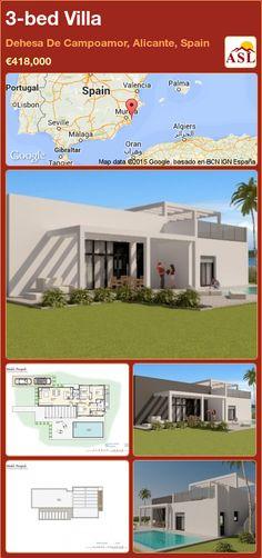 Villa for Sale in Dehesa De Campoamor, Alicante, Spain with 3 bedrooms - A Spanish Life Valencia, Portugal, Environmental Law, Fine Sand, Alicante Spain, Living Area, Playground, Terrace, Swimming Pools