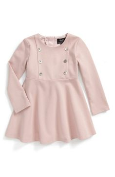 Free shipping and returns on Bardot Junior Button Front Dress (Baby Girls & Toddler Girls) at Nordstrom.com. Decorative buttons at the bodice add a preppy touch to a perfectly flared stretch-knit dress.