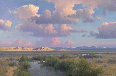 Michael Stack art Sky Painting, Seascape Paintings, Nature Paintings, Watercolor Landscape, Landscape Art, Landscape Paintings, John Wilson, Nature Aesthetic, Western Art