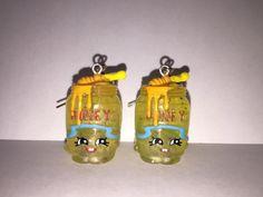 Shopkins Foodie Earrings  Honeeey glitter  made with by ErinEtc