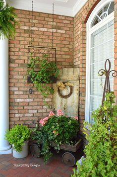 Spring Porch-Vintage Wagon-Housepitality Designs