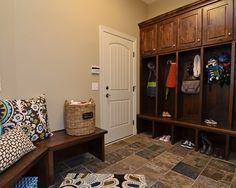 Black Tile Mudroom Locker Design, Pictures, Remodel, Decor and Ideas - page 3