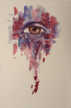 watercolor eye by on DeviantArt Watercolor Eyes, Watercolor Tattoo, Human Eye, Eye Art, Beautiful Artwork, Arts And Crafts, Deviantart, Artist, Painting