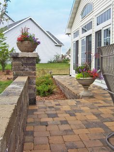 Small textured back patio and steps. The Vande Hey Company, Inc.