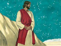 Jesus is transfigured :: Peter, James and John witness Jesus being transfigured (Matthew Mark Luke Jesus Is Risen, Jesus Loves Me, Free Stories, Bible Stories, Free Bible Images, Luke 9, Matthew 17, What Is Christmas, Bible Activities