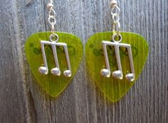 Triplet Note Charm Guitar Pick Earrings - Pick Your Color by ItsYourPick on Etsy