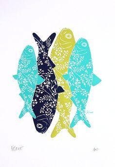 beautiful floral fish