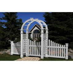 The New England Arbors Nantucket Legacy Arbor makes for an elegant and exquisite faux gate in any garden, giving you and all your guests a classy and stylish welcome. It has an attractive visual charm that stems from its splendid aesthetic appeal. It has a robust and ornate structural design that is pleasing to look at, and facilitates its decorative value. It has a beautiful and compact build that is as rewarding to the touch as it is to the eyes. The Nantucket Legacy Arbor from New England…
