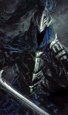 Knight Artorias from Dark Souls (DLC content). He's adorable and I paints him for my spouse. Done in Photoshop CS5