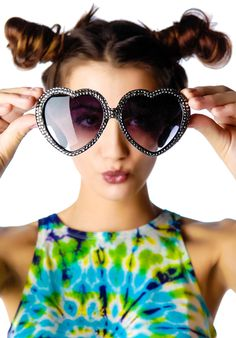 f8728f7592e  Swarovski Heart  Sunglasses I Love Girls