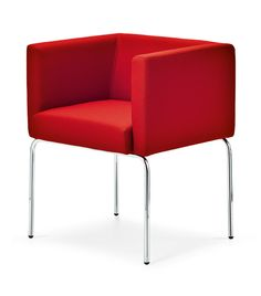 #armchair #red #furniture #cube #basiccollection