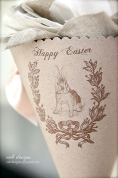 lovely Easter cone -http://eabdesigns.typepad.com/my_weblog/2012/03/diy-easter-craft-free-download.html#
