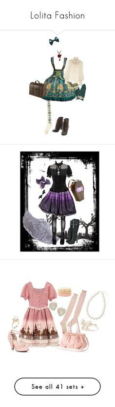 """""""Lolita Fashion"""" by dressmeup-watchmedie ❤ liked on Polyvore featuring Ralph Lauren Collection, But Another Innocent Tale, Crate and Barrel, Bling Jewelry, Sally Scott, Miss Selfridge, Belpearl, Charlotte Russe, hearts and Heels"""
