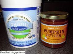 Dear Baci: Pumpkin Yogurt