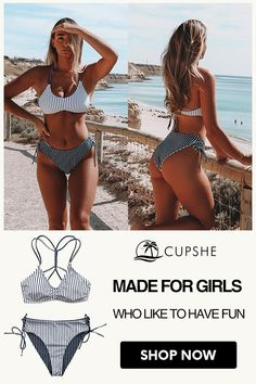 The reversible bikini bottom lets you mix-and-match to create 2 looks in It laces up at the sides so you can adjust the fit to your body. Cute Summer Outfits, Cute Outfits, Fashionable Outfits, Summer Pictures, Beach Pictures, Summer Body Goals, Bikini Inspiration, New York, Best Swimsuits