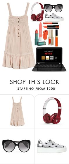"""morning"" by myfictionlife ❤ liked on Polyvore featuring Temperley London, Beats by Dr. Dre, Alexander McQueen and Kenzo"