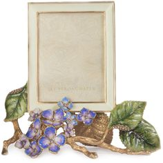 Jay Strongwater Colbie Hydrangea Frame (31,830 INR) ❤ liked on Polyvore featuring home, home decor, frames, multi, jay strongwater, jay strongwater picture frames, jay strongwater frames, distressed frames and handmade frames