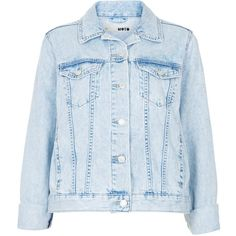 TOPSHOP MOTO Fitted Denim Jacket (82 AUD) ❤ liked on Polyvore