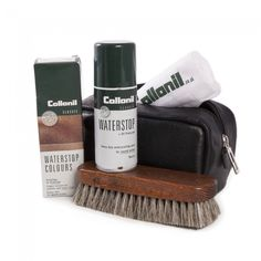 Collonil Shoe Care Gift Pack in black zip pouch.