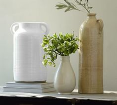 Rosera Ivory Tonal Vase Collection #Pottery Barn