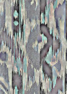 TEXTILES Martin Hudson lines: like ikat grey aqua teal turquoise Design Textile, Textile Patterns, Textile Prints, Print Patterns, Ikat Pattern, Pattern Art, Abstract Pattern, Pattern Design, Framing Canvas Art