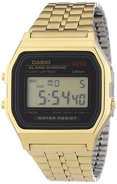 Casio Collection Herren-Armbanduhr Digital Quarz A159WGEA-1EF - http://uhr.haus/casio/casio-collection-herren-armbanduhr-digital-1ef