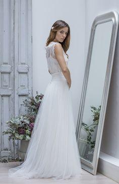 Robe de mariée style bohême - Collection Marie Laporte 2014 - modèle Paola - La Fiancée du Panda blog Mariage & Lifestyle
