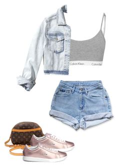 """🎀🎀"" by puneh-kuchak-1 on Polyvore featuring Levi's, Hollister Co., Louis Vuitton and Lacoste"