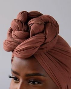 Easy knot turban style with our NALA jersey in Amber 🧡 would you rock this style? Hair Wrap Scarf, Hair Scarf Styles, Curly Hair Styles, Natural Hair Styles, African Hair Wrap, African Head Wraps, Headwraps For Natural Hair, Mode Turban, Pelo Afro
