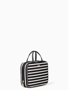 b16465d53e0a60 Vanity cases & large bags · Kate Spade Classic Nylon Minna, Black/Clotted  Cream Clotted Cream, Gold Print,