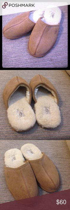 UGG slippers size 8 UGG slippers size 8. A few small spots on these but I haven't tried to clean them. Besides those these are in great shape. Make a reasonable offer. UGG Shoes Slippers