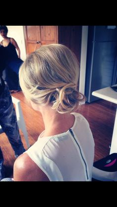 Cute up do for short/thin hair